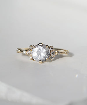 Sheila Ring with white diamond