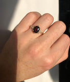 Sheila Ring with garnet
