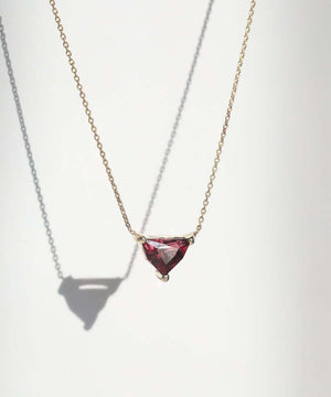 Garnet Shield Necklace