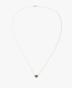 Tourmaline bubble necklace amber/cerise stripe