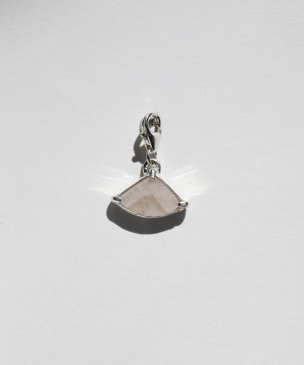 White Agate Pie Charm