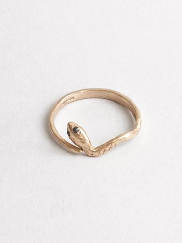 Eva The Snake Ring 14k Gold
