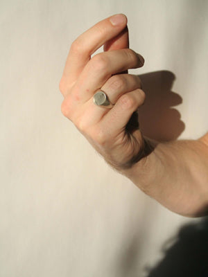 Mens silver signet ring, wedding band,  jewelry store, Greenpoint, Brooklyn NYC
