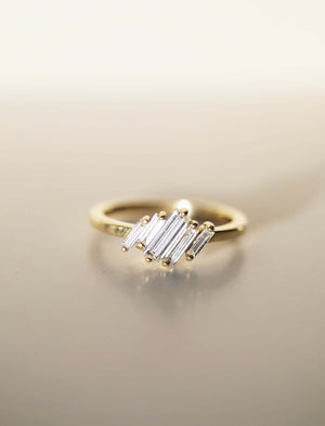 Heather Baguette Ring Yellow Gold
