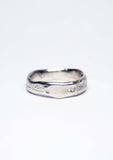 Molten Wedding Band (Tall) Platinum