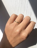 Tiny Ragged Band with Diamonds 14k Gold