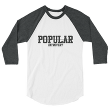 GREYED OUT POPULAR INTROVERT 3/4 sleeve raglan shirt
