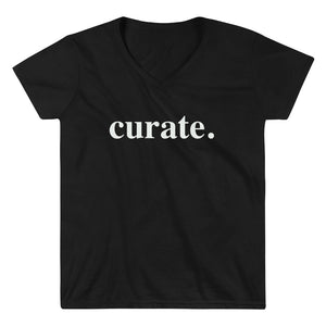 Curate. Women's Casual V-Neck Shirt