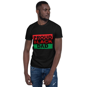 """PROUD BLACK DAD"" Short-Sleeve Men's T-Shirt"
