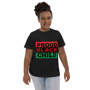 """PROUD BLACK CHILD"" Youth jersey t-shirt"