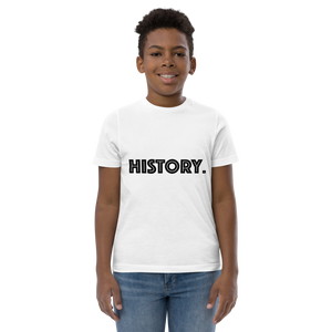 """We Are Black History"" Unisex Youth jersey t-shirt"