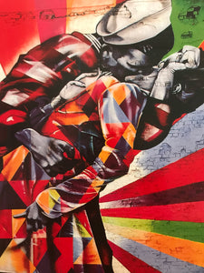 Eduardo Kobra - The Kiss 2014