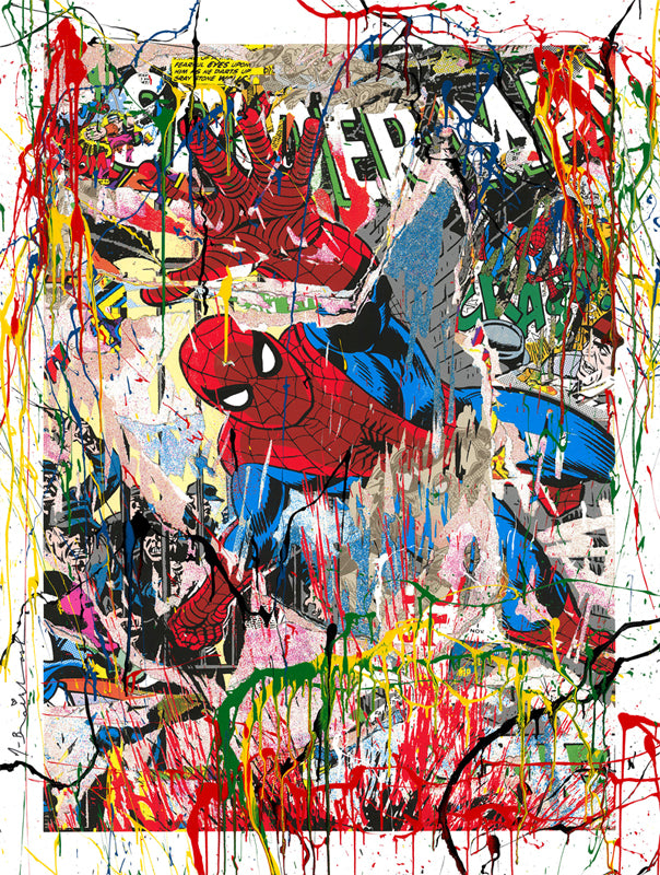 Mr. Brainwash - Spider Man 2019 Hand Finished