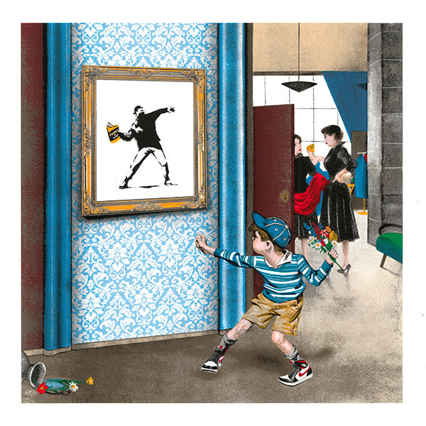 Mr. Brainwash - Life Imitates Art 2021 (Banksy Thrower)