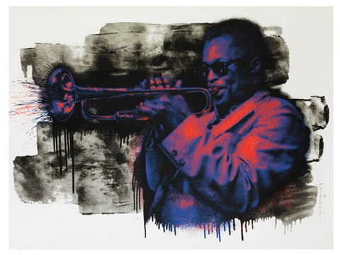 Mr. Brainwash - Miles Davis (Purple/Orange) 2015