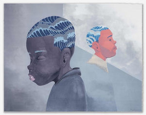 Hebru Brantley - Two Men Sporting Waves 2019