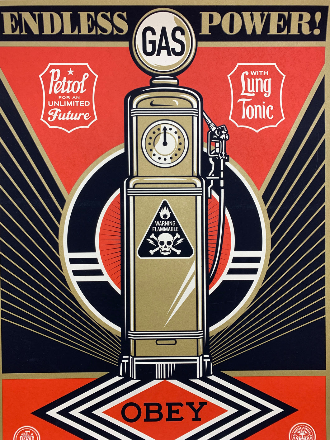 Shepard Fairey - Endless Power poster 2013 18x24 x/450