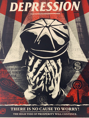 Shepard Fairey - 2020 Greed Depression