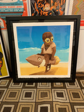 Hebru Brantley - Boy on Rocket 2018 (FRAMED)