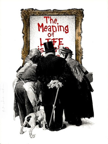 Mr. Brainwash - The Meaning of Life (Red) 2019