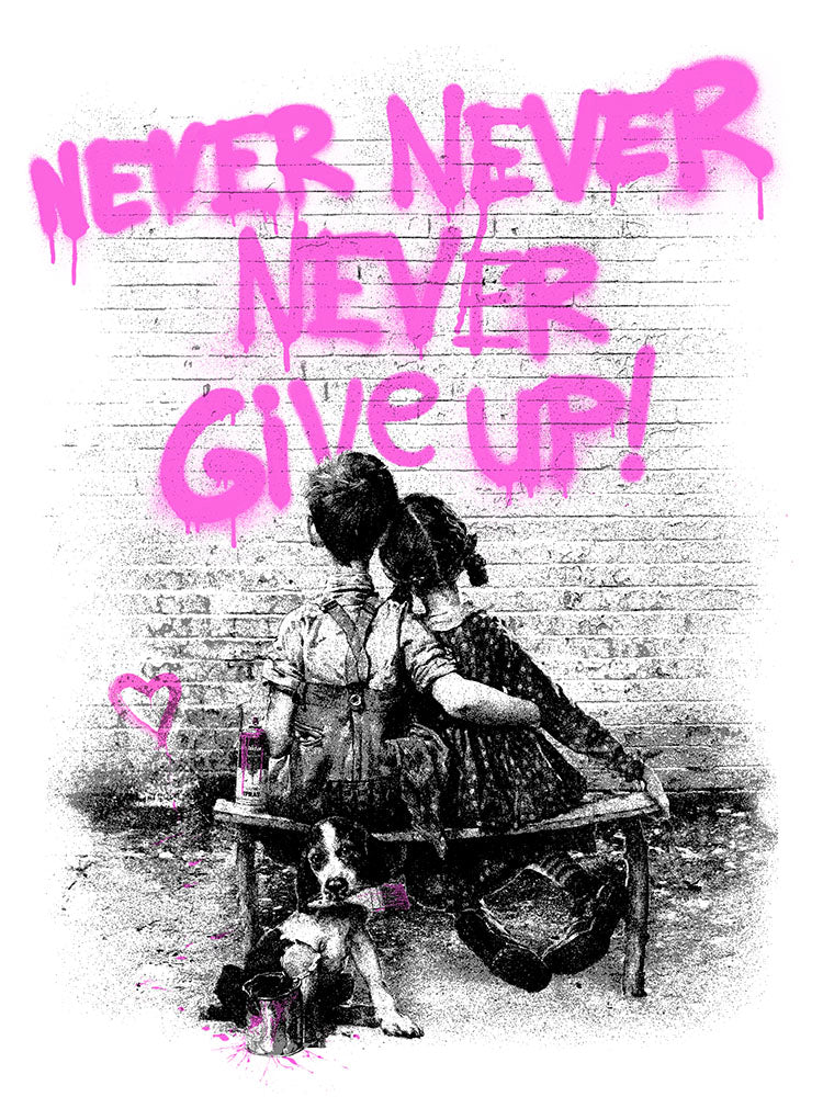 Mr. Brainwash - Don't (Never) Give Up 2020 Pink