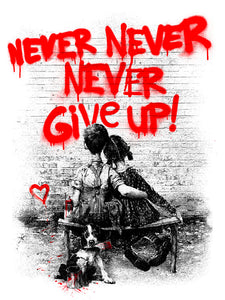 Mr. Brainwash - Don't (Never) Give Up 2020 Red