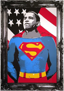 Mr. Brainwash - Obama Superman 2008 Silver
