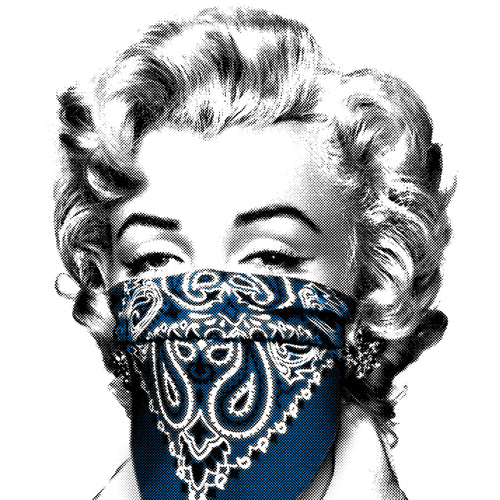 Mr. Brainwash - Stay Safe 2020 Marilyn Monroe (Blue)