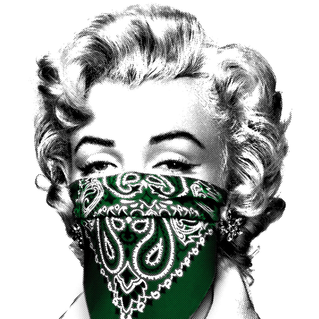 Mr. Brainwash - Stay Safe 2020 Marilyn Monroe (Green)