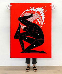 Cleon Peterson - World On Fire (Red) 2021 Large Format 36x48