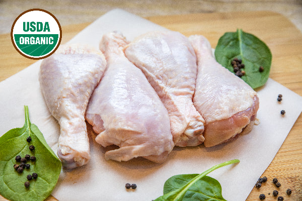 Chicken Drumsticks - USDA Certified Organic, Pasture-Raised