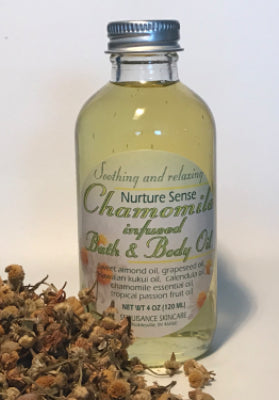 Chamomile infused bath and body oil. 4 OZ