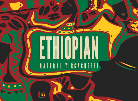 Ethiopian Natural - Yirgacheffe - Medium Roast - 8 oz - Whole Bean