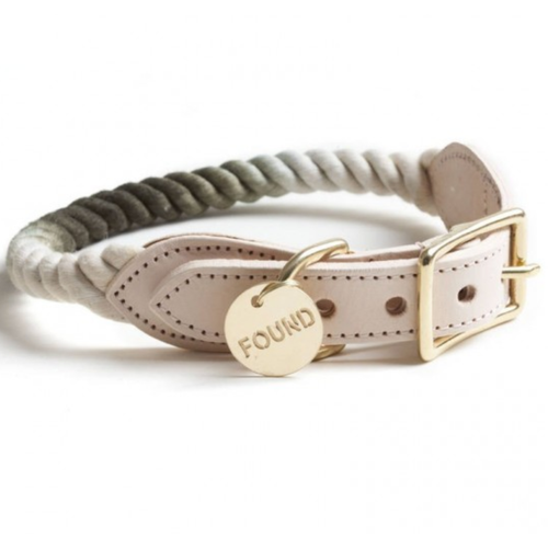 Rope Collar Olive Ombre