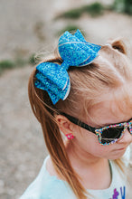 Neon Blue Dolly Bow