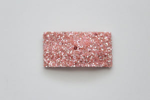 Coral Sherbet Glitter Snap Clip