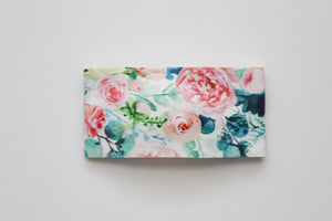 Lush Blush Faux Leather Snap Clip