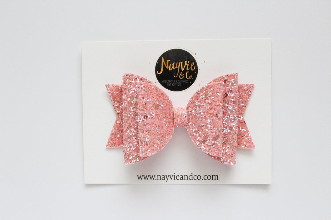 Coral Sherbet Dolly Bow