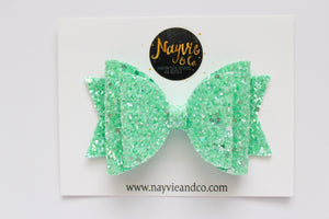 Spearmint Sherbet Dolly Bow