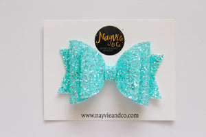 Blue Sherbet Dolly Bow