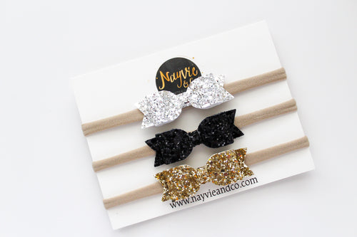Glitter Finley Bow Set