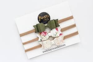 Olive, Bridal Shoppe, Floral Finley Bow Set