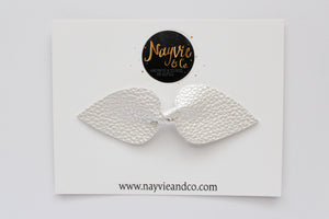 Pearl Faux Leather Bow