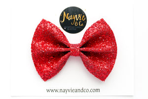 Maraschino Cherry Glitter Bow