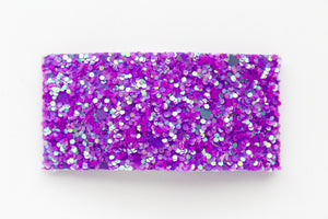 Neon Purple Glitter Snap Clip