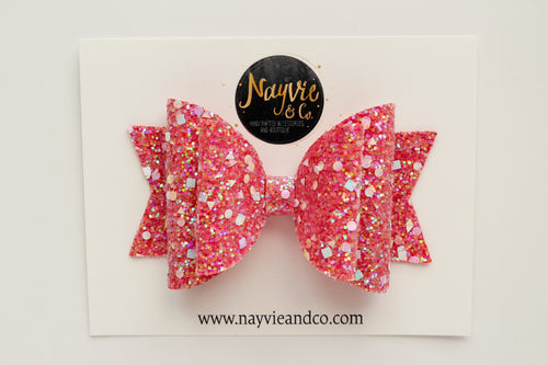 Watermelon Dazzle Dolly Bow