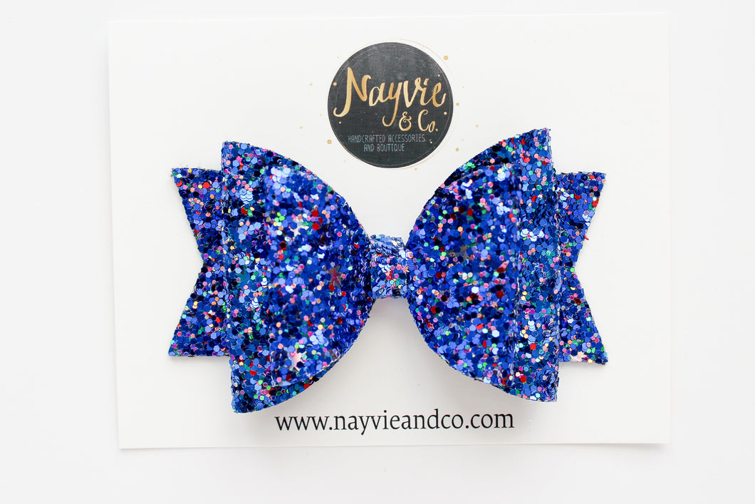 Freedom Glitter Dolly Bow