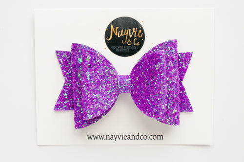 Neon Purple Dolly Bow
