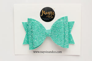 Mermaid Green Shimmer Dolly Bow