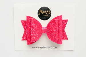 Neon Magenta Dolly Bow